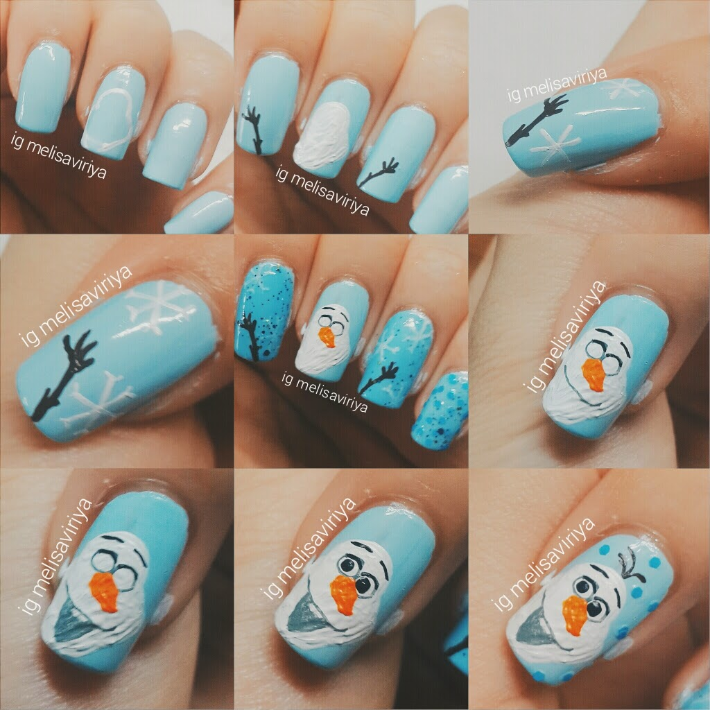 OLAF nail art